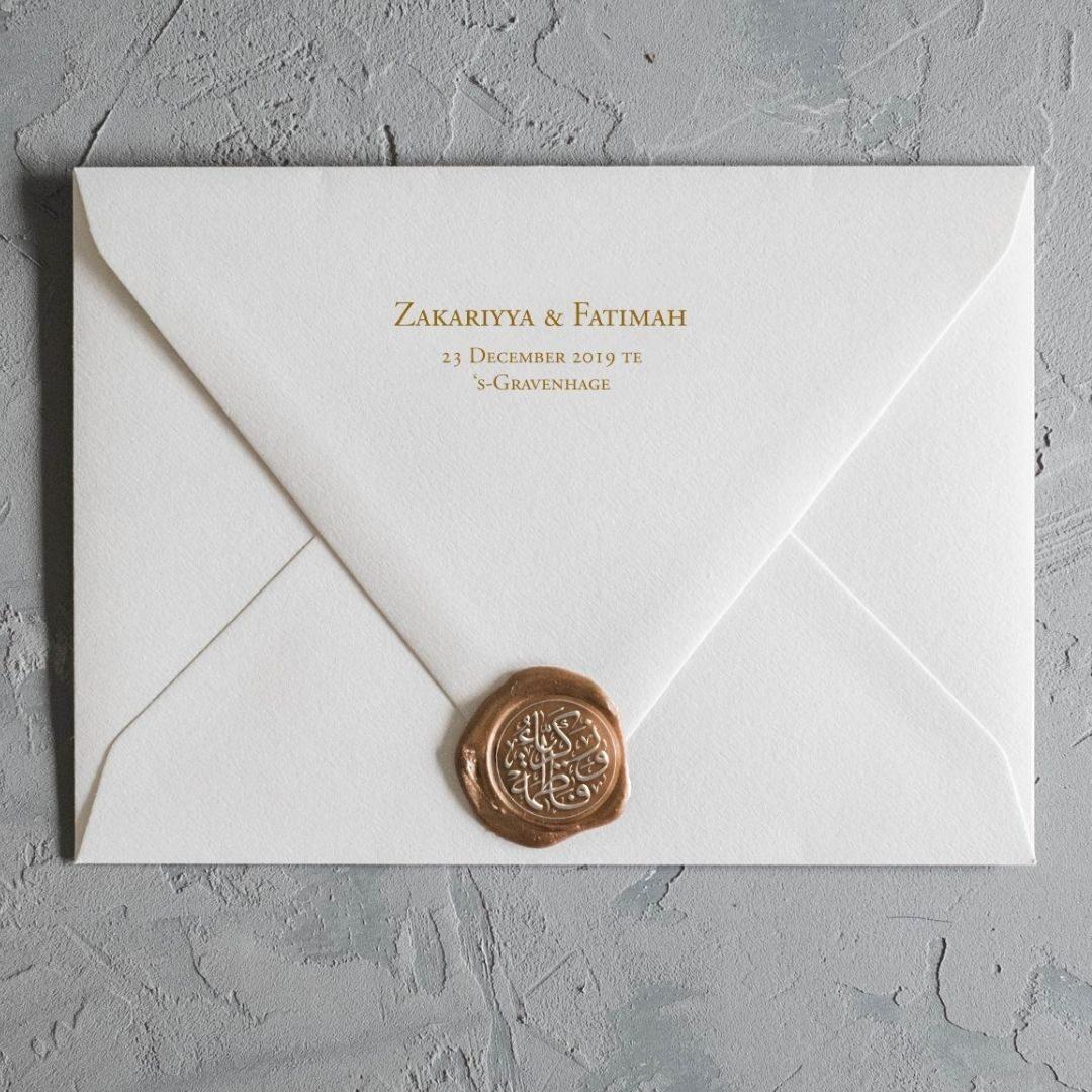Nikah zegel envelop