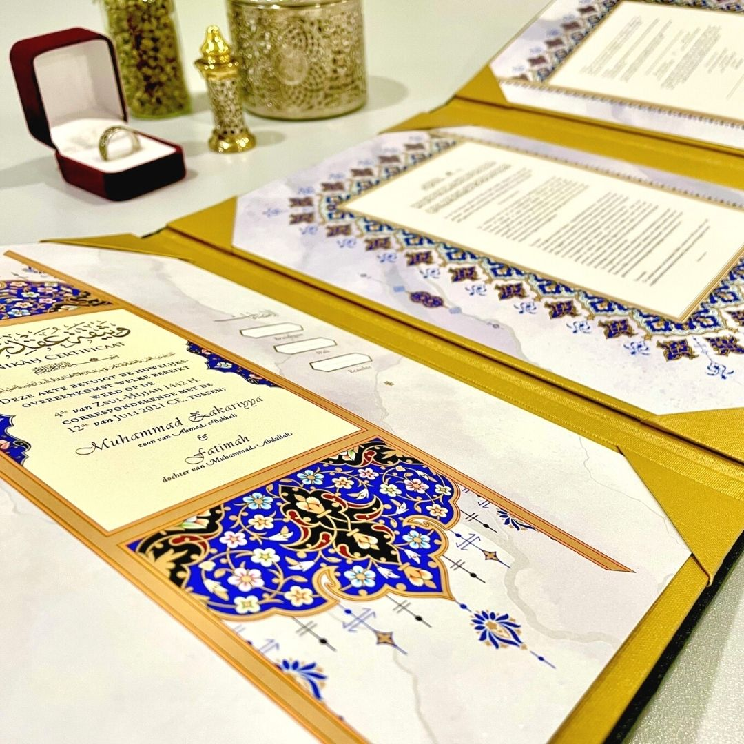 Nikah contract set photo